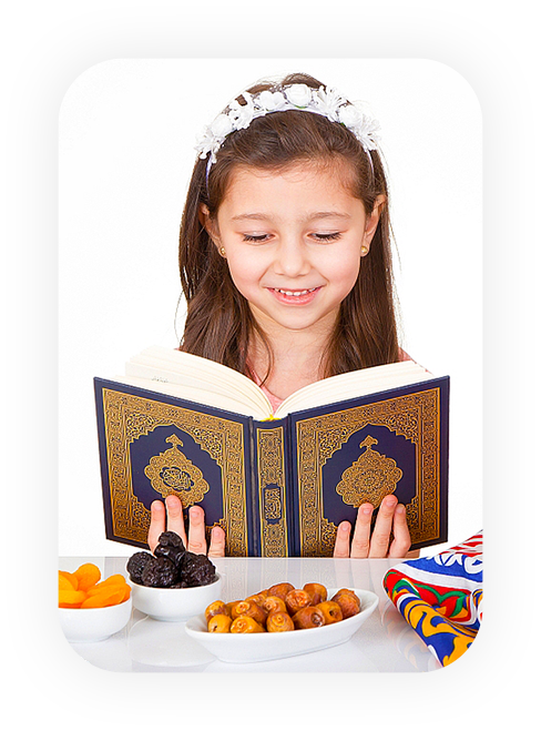 girl learning how to read quran