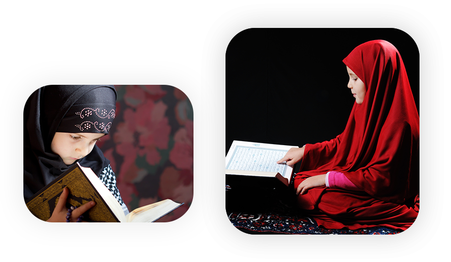 two girls learning quran online